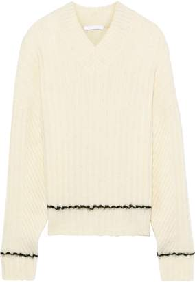 Helmut Lang Brushed Ribbed-knit Sweater
