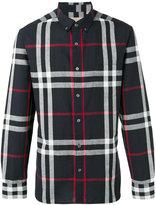 Burberry checked shirt - men - Cotton/Linen/Flax - XS