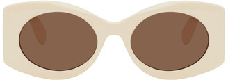 Gucci Off-White Oversized Round Injection Sunglasses