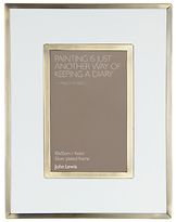 John Lewis White and Brass Frame, 6 x 4