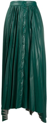 Isabel Marant Vegan Leather Pleated Maxi Skirt