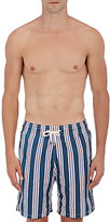 Solid & Striped MEN'S THE CALIFORNIA STRIPED SWIM TRUNKS-NAVY SIZE S