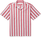 Stella McCartney Camp-Collar Striped Cotton-Poplin Shirt