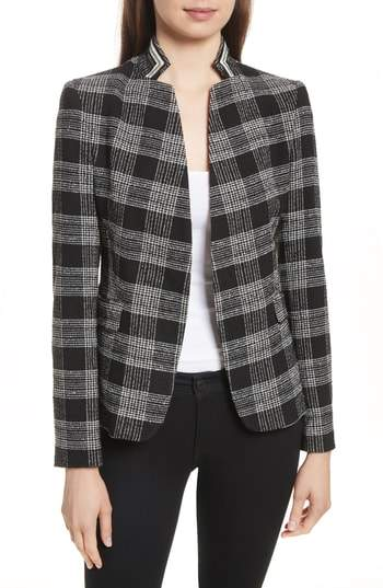 Alice + Olivia Harris Told You So Plaid Blazer