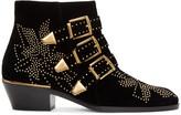 Chloé Black Velvet Susanna Boots