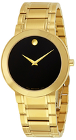 Movado Stiri Black Dial Gold-tone Stainless Steel Watch, 40mm