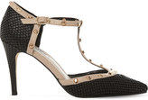 Dune Cliopatra studded leather t-bar courts