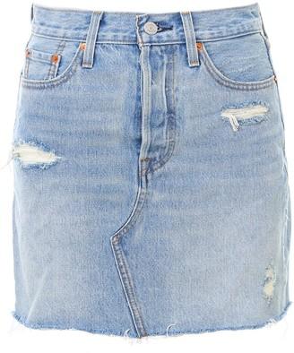 Levi's High Rise Deconstructed Skirt