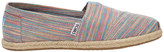 Toms Alpargata 10009699 Blue Aster Multi Space Dye Rope Sole Sneaker