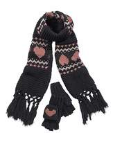 Fashion World Heart Gloves and Scarf Set