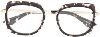Emmanuelle Khanh Oversized Tortoiseshell Detailed Glasses