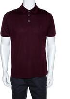 Thumbnail for your product : Louis Vuitton Wine Cotton Pique Polo T Shirt L