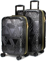Badgley Mischka Contour Expandable 2-Pc Hardside Luggage Set