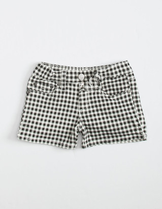 Tractr Gingham Printed Little Girls Pink Shorts (4-6x)