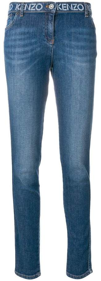 Kenzo printed waistband slim-fit jeans
