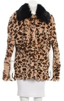 Jocelyn Leopard Print Fur Cape