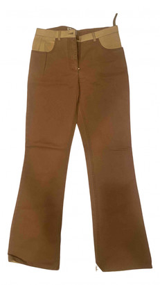 Chanel Brown Cotton Jeans