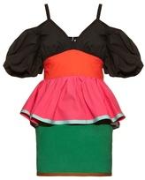 Isa Arfen Colour-block off-the-shoulder dress