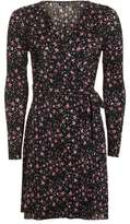 Topshop Star print plisse wrap dress