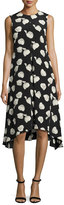Theory Nophella B Harper-Print Silk Dress, Multi