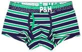 Pink Hero Hot Sale Male Underwear Men's Stripe Yarn-Dyed Cotton Boxers