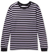 Pop Trading Company Printed Striped Cotton-Jersey T-Shirt