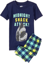Crazy 8 Navy 'Midnight Snack Attack' Tight-Fit Pajama Set - Infant Toddler & Boys
