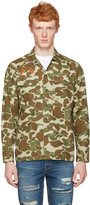 Levi's Levis Green and Brown Camo Embroidered Shirt