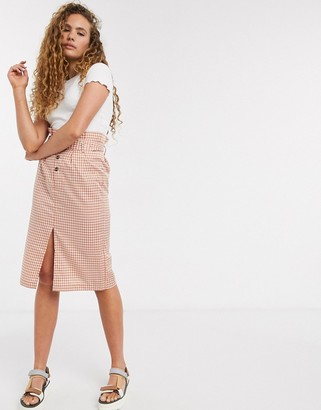 Soaked In Luxury check belted skirt