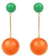 J.W.Anderson Contrast-sphere drop earrings