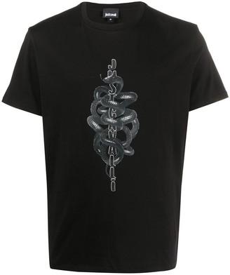 Just Cavalli snake logo print T-shirt