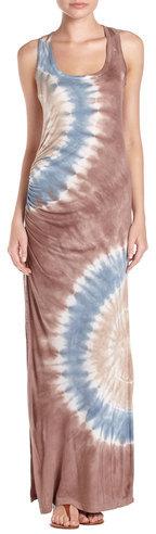 Young Fabulous & Broke Tie-dye Maxi Dress, Brown Zion