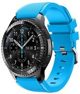 Smart Watch Replacement Wristband For Samsung Gear S3 Frontier,FUNIC Fashion Sports Silicone Bracelet Strap Band (Sky Blue)