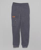 CB Sports Charcoal & Orange Zip Pocket Sweatpants - Kids & Tween