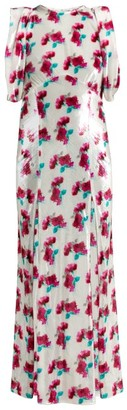 ATTICO Floral Velvet Dress - White Multi