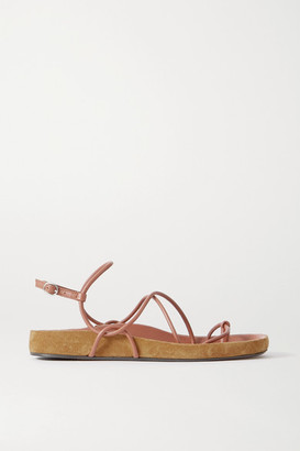 Isabel Marant Enador Leather And Suede Sandals - Brown