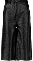 MM6 MAISON MARGIELA Glossed Faux Textured-Leather Culottes