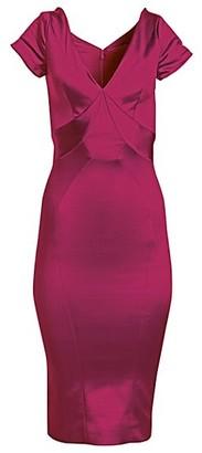 Zac Posen Off-The-Shoulder Satin Cocktail Dress