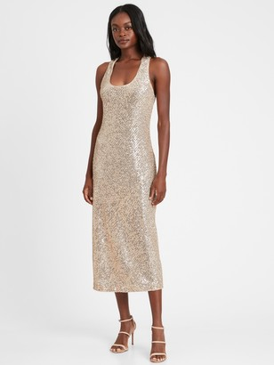 Banana Republic Sequin Bias-Cut Slip Dress