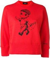DSQUARED2 caricature print sweatshirt - women - Cotton - L