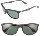 Ray-Ban Men's Wayfarer 59Mm Sunglasses - Matte Black/green
