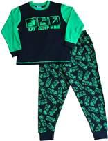 ThePajamaFactory USA Boy's Eat Sleep Mine Pajamas Fantastic Computer Game Style All Over Print 7 to 14 Years