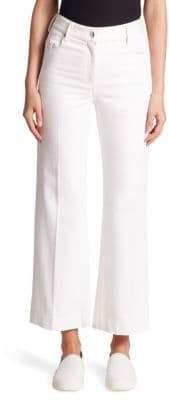 Calvin Klein Collection Fray Bis Cropped Heavy Twill Denim Jeans