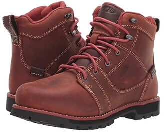 Keen Seattle 6 Aluminum Toe Waterproof (Gingerbread/Black) Women's Work Boots