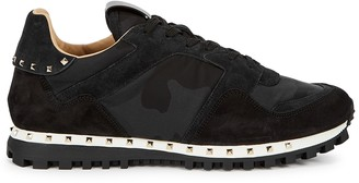 Valentino Rockrunner camouflage suede sneakers