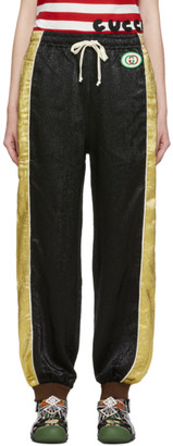 Gucci Black and Gold Silk Lounge Pants
