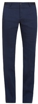 Giorgio Armani Slim-leg Stretch Linen-blend Trousers
