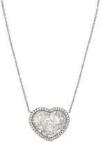 Susan Foster Diamond slice & white-gold necklace