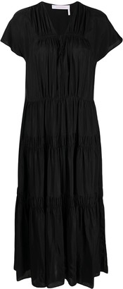 See by Chloe Flou tiered long dress