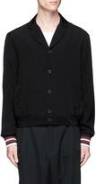 McQ by Alexander McQueen Stripe cuff blouson shirt jacket